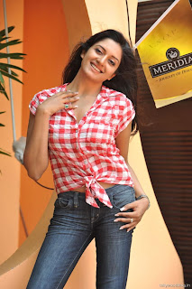 Vimala Raman in Red Checks Shirt and Denim Lovely Beauty