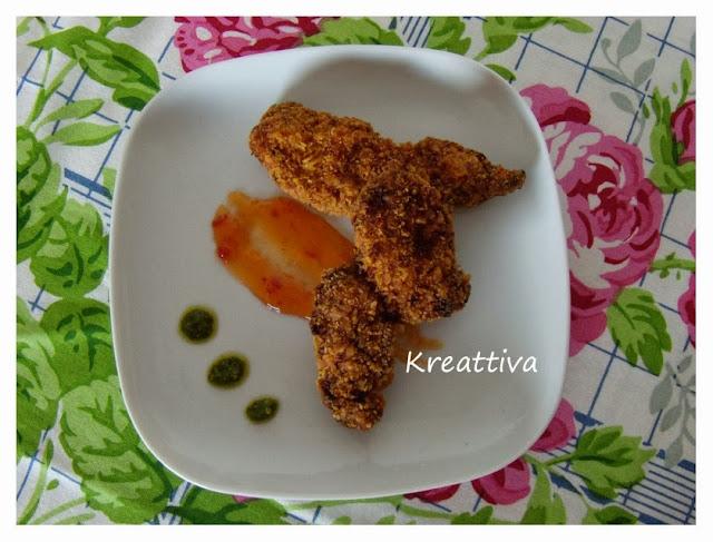 pollo impanato con caviale di belzebù