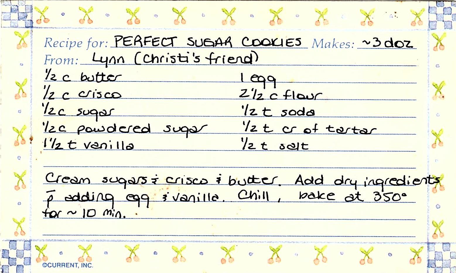 Heres That Recipe Card From Forever Ago Its A Breeze To Throw Together So Ill Spare
