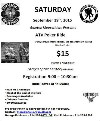 9-19 ATV Poker Ride Galeton