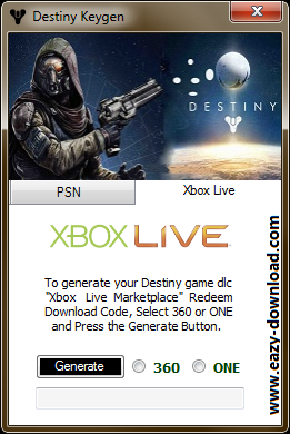 Destiny keygen free download for ps3 ps4 xbox 360 and xbox one
