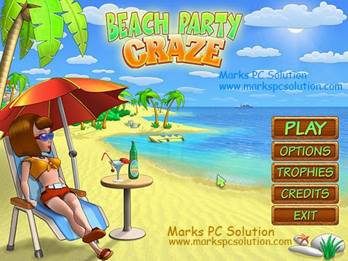 Beach Party Craze Start Screen