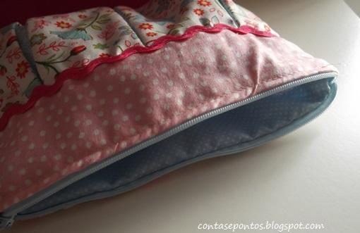 Bolsa, tecido, flores