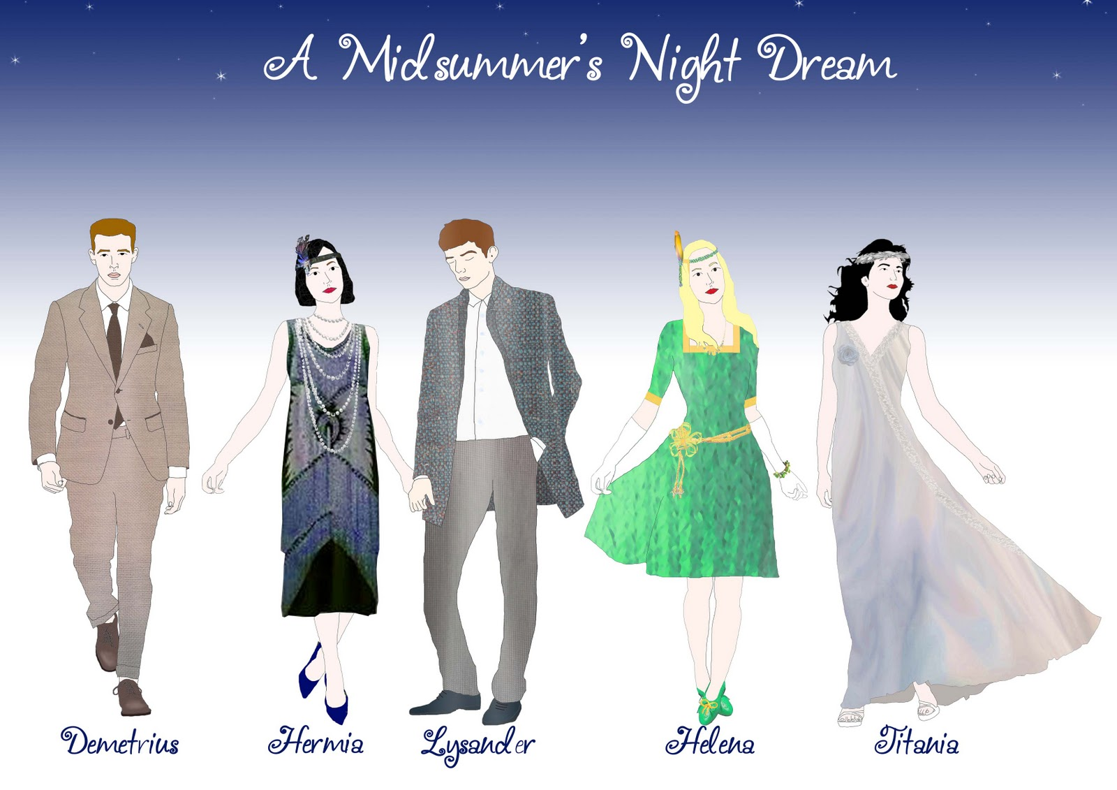 costume design for a midsummer night s dream design portfolio