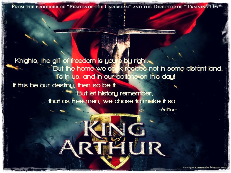 Famous Line Of King Arthur : King arthur movie quotes quotesgram