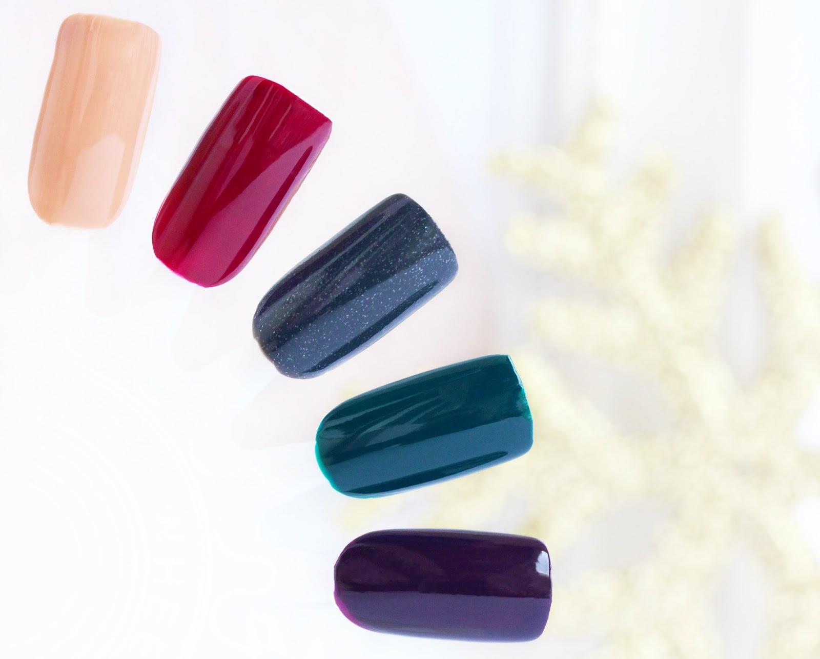 Autumn  Winter Nail Polishes Swacthes
