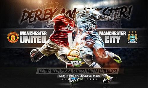 Prediksi Skor Manchester United vs Manchester City 26 Maret 2014 - Derby Manchester