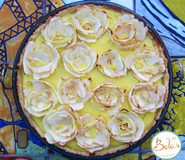 Tarta de Rosas con Crema de Naranja