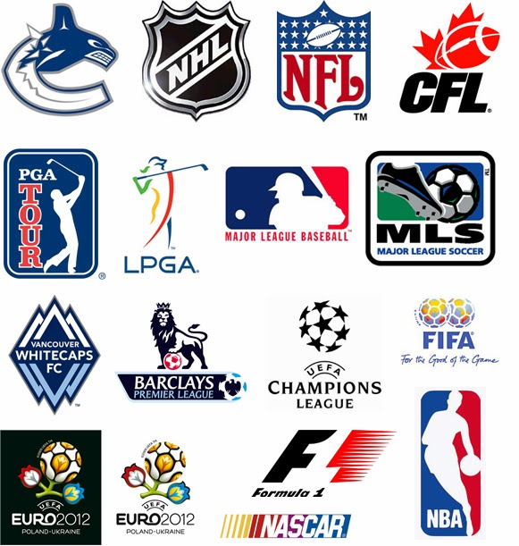 All sports logos and names