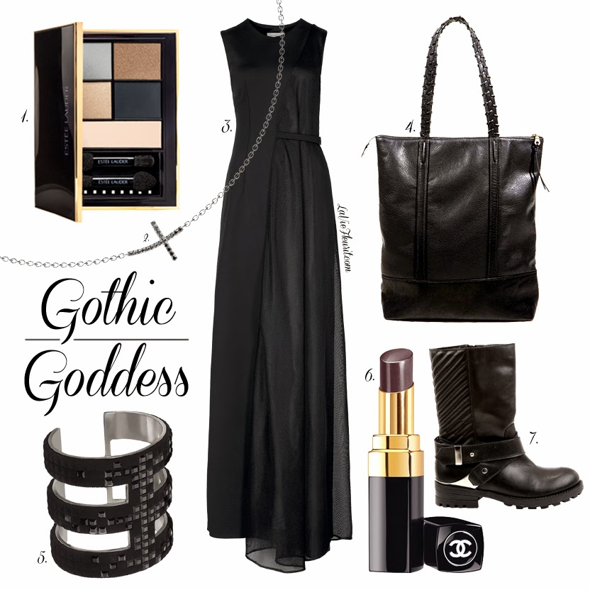 Mix & Match | Gothic Goddess Mix and Match, Trends, Fashion, Beauty, Make-Up, Style, Styling, Accessories, Black, Moodboard, Fashionblogger, BBlogger, Beautyblogger, Makeup, Make up, LIfestyleblogger, Zalando, Daphne Raes, Diamanti per tutti, estee lauder, chanel, invito, swarovski, viktor & rolf
