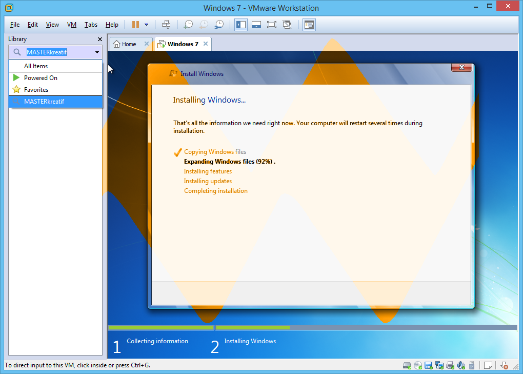Bit VMware Workstation installs into Program