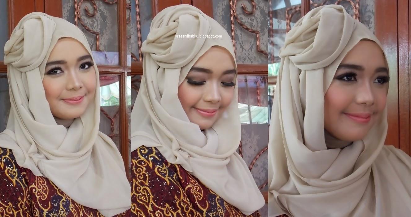 Makeup dan stylist jilbab lamaran muslimah