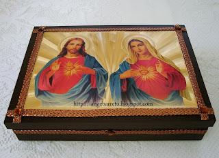 Caixa MDF Sagrado coração de Maria.