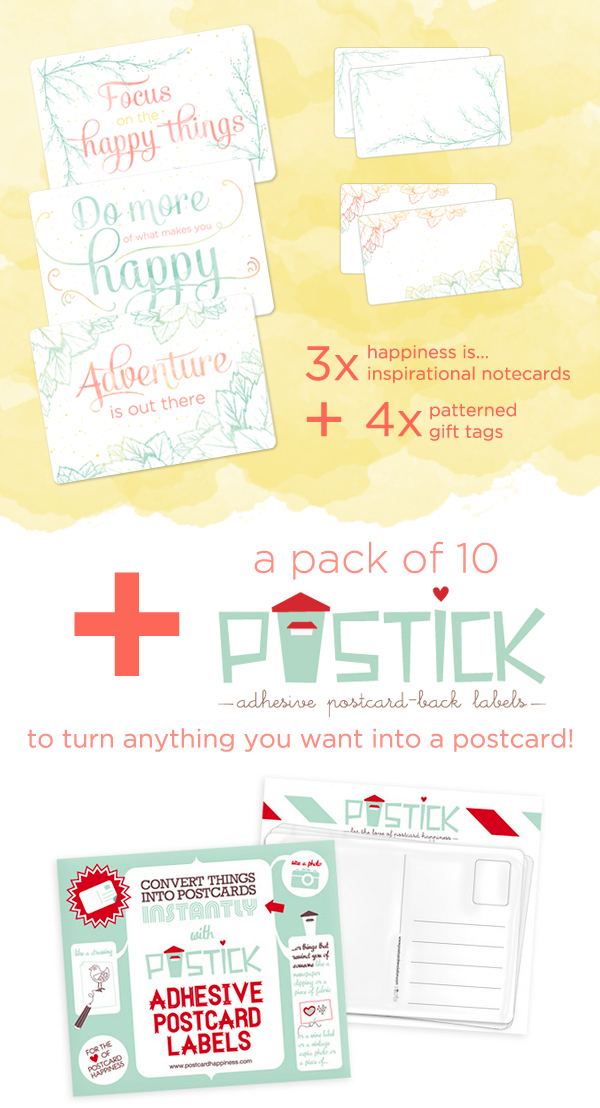 Postcard Happiness giveaway!