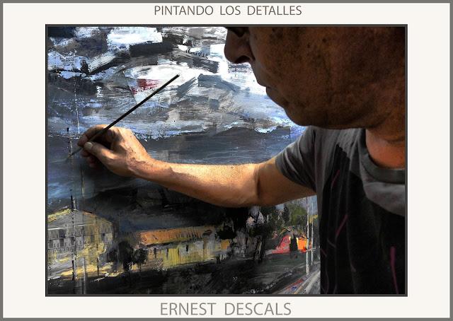 PINTANDO-DETALLES-PINTURAS-CUADROS-PINTURA-PAISAJES-FOTOS-ARTISTA-PINTOR-ERNEST DESCALS-
