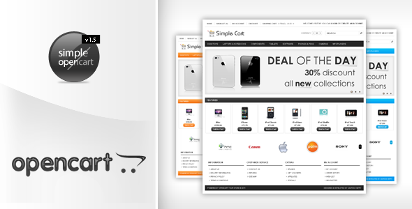 ThemeForest - Simplecart Opencart Template in 12 Styles