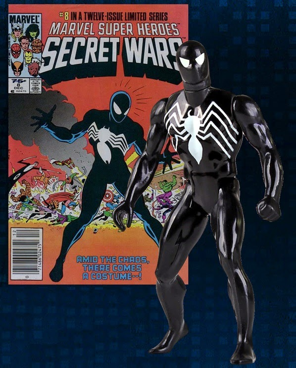 "Black Costume Spider-Man 12"" Jumbo Vintage Marvel's Secret Wars Action Figure by Gentle Giant"