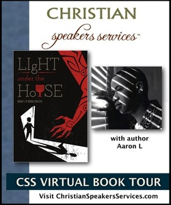 Logo for Christian Speaker Services Facebook Page for Virtual Book Tour for Light Under the House by Aaron L and Donna Dawson