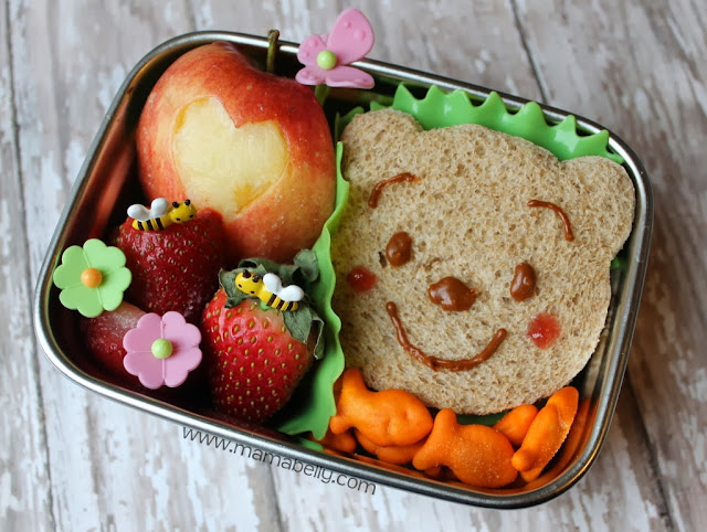 A Winnie the Pooh bento {with link party} - mamabelly.com