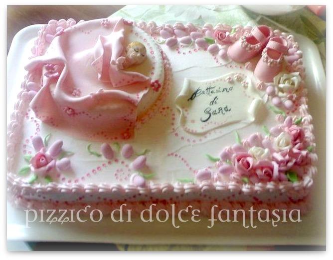 Extrêmement Pizzico di Dolce Fantasia ..: Torta Battesimo Sara II78