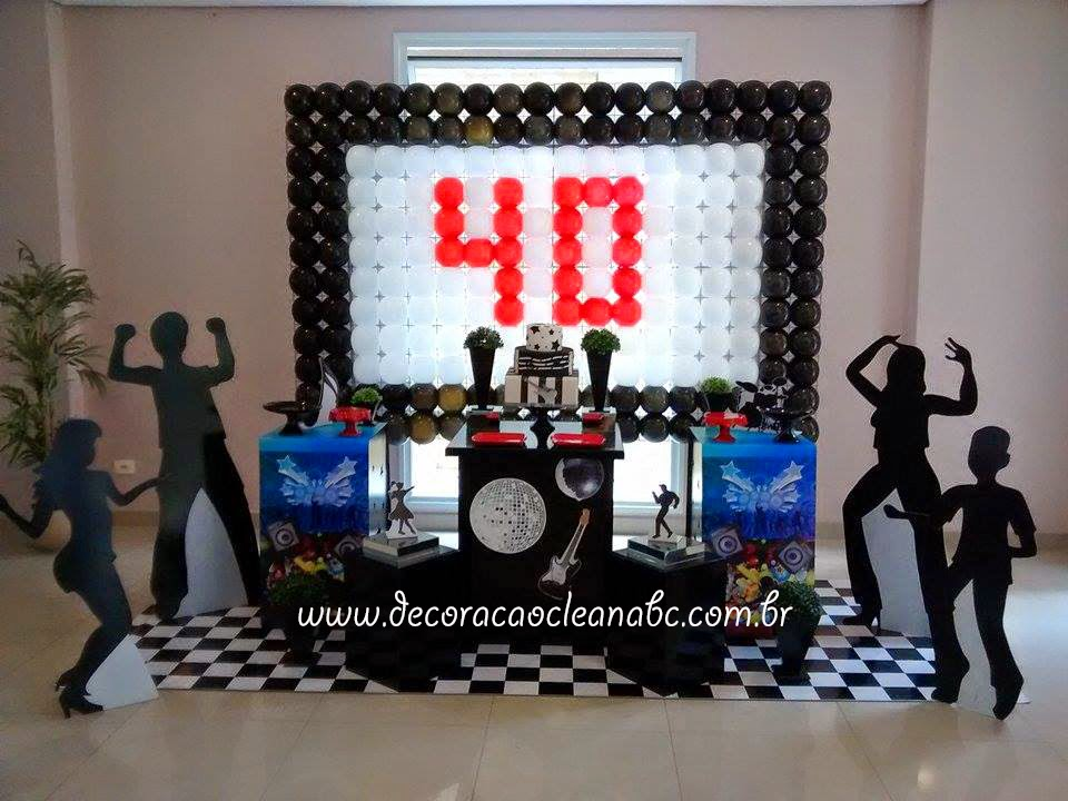 Decoracao Clean Abc Festa Balada Flash Back Decoracao Flash Back