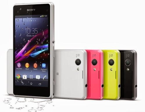 Il nuovo smartphone android compatto Xperia Z1 Compact sarà venduto in varie colorazioni: bianco, giallo, nero, lime eccetera