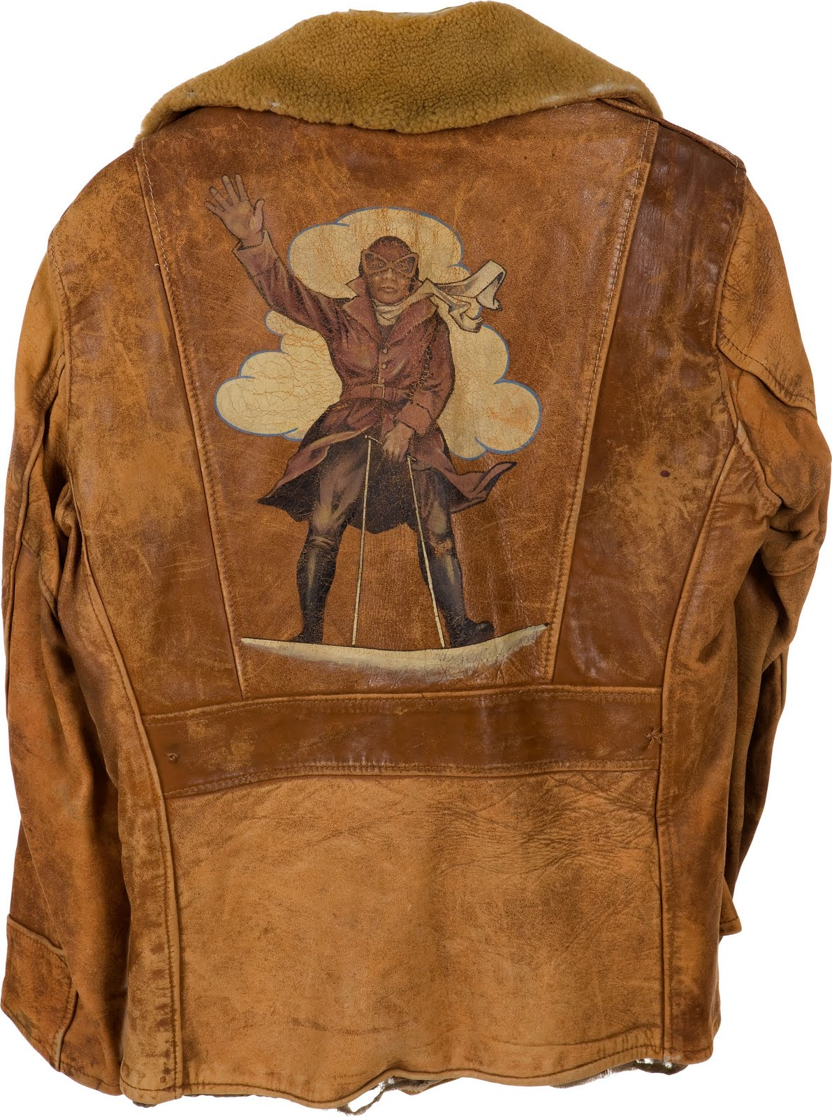Nostalgia on Wheels: WWI Daredevil Fighter Piolet Flight Jacket & Cap