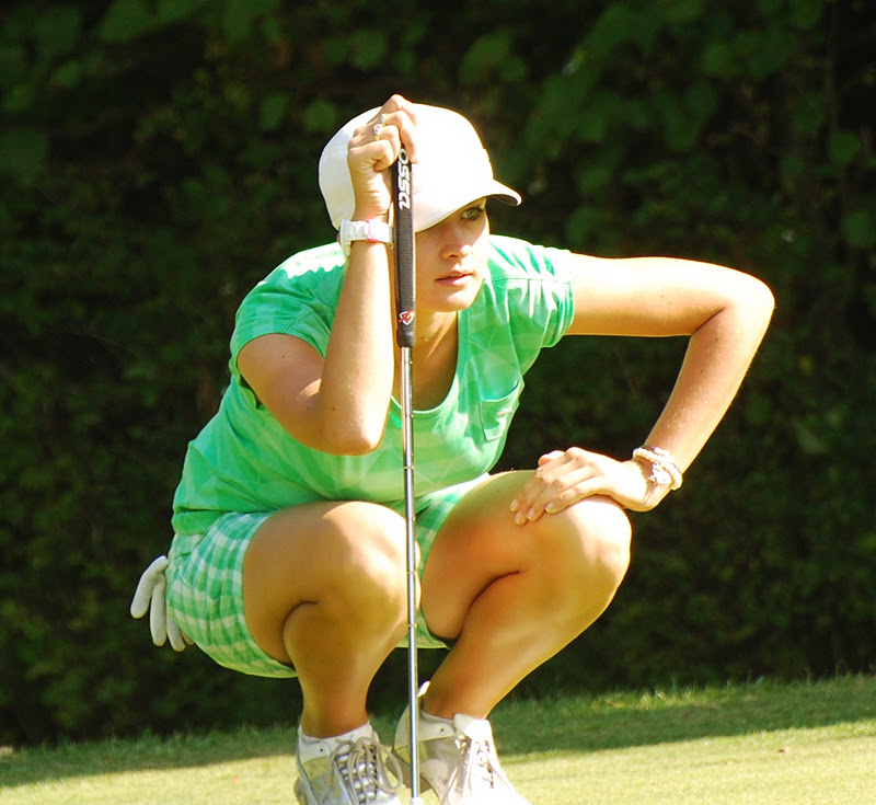 AMY BOULDEN in pole position in girls' championship at Abu Dhabi