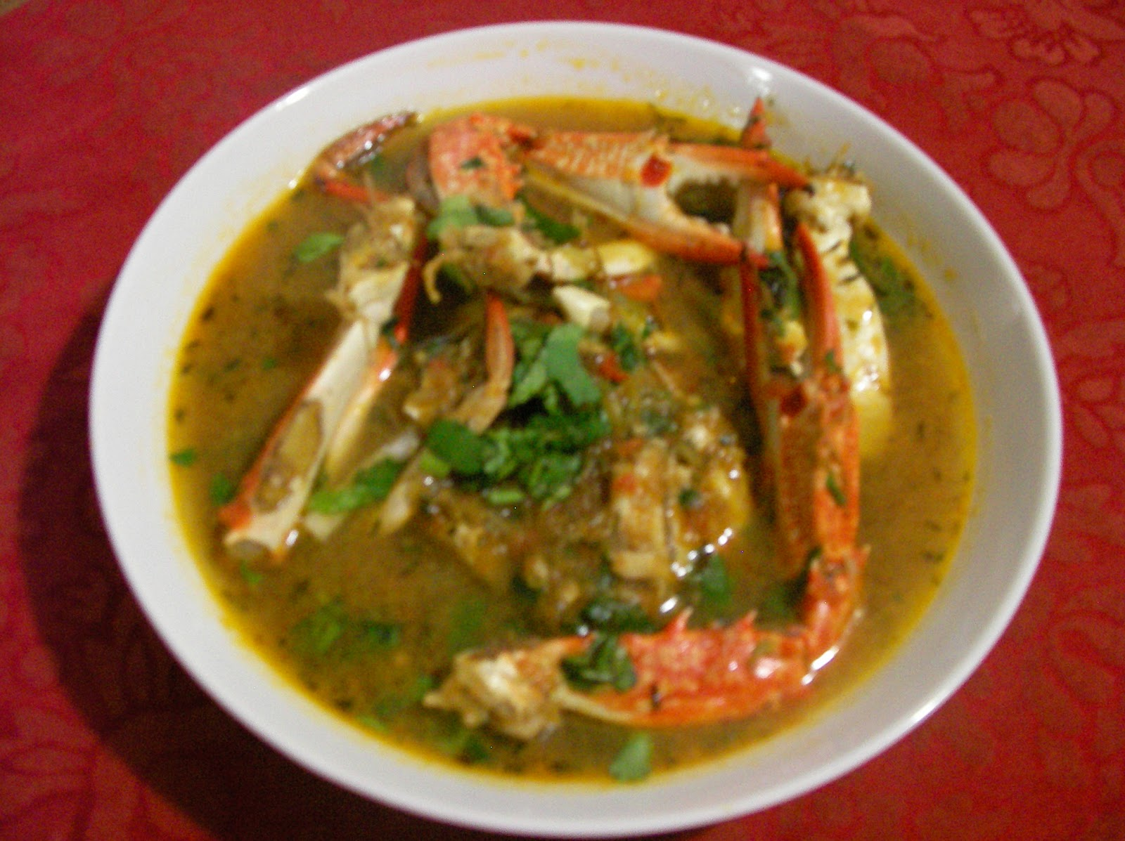 Cocozil - Recipes From Mauritius: Crab Soup (Bouillon Crabe)