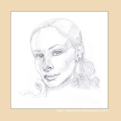 Comment dessiner un portrait réaliste d'une femme (Étape 1)
