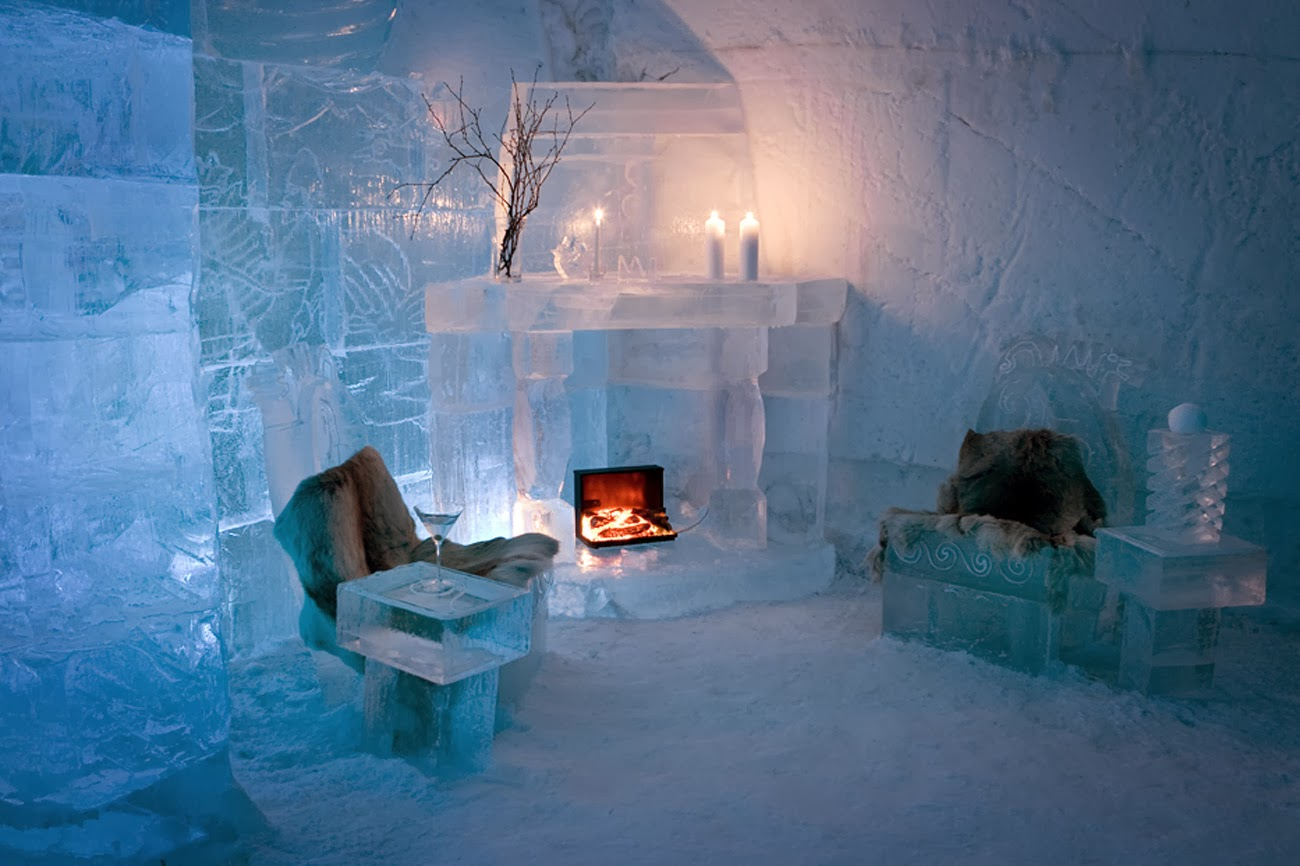 luxury life design ice hotel the glace that last just 3. Black Bedroom Furniture Sets. Home Design Ideas