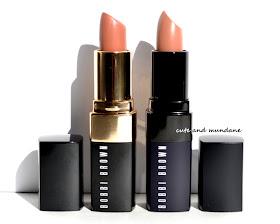 Cute and Mundane: Bobbi Brown Uber Beige Lip Color vs