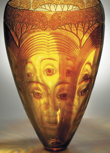 glass carving by Kevin Gordon