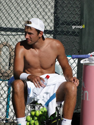 Lukasz Kubot Shirtless at Cincinnati Open 2010