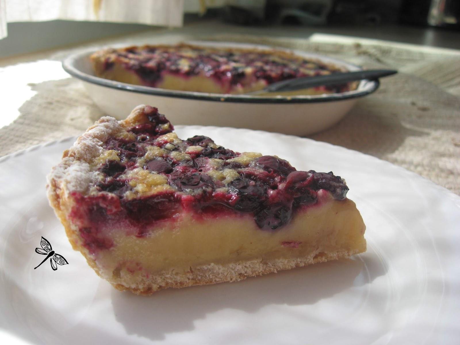 Libellule et ses spatules tarte au sucre la cr me et aux bleuets sans framboises de laurent - Tarte aux poireaux sans creme ...