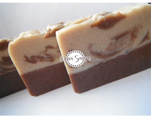 jabones naturales de chocolate