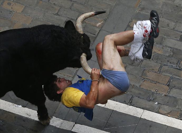 Horror in Festival as bull smashes man