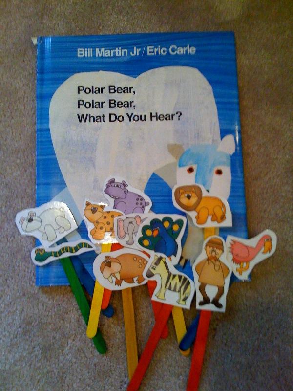 Polar Bear Sticks for the book.