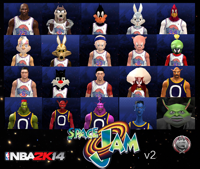NBA2K Space Jam Characters