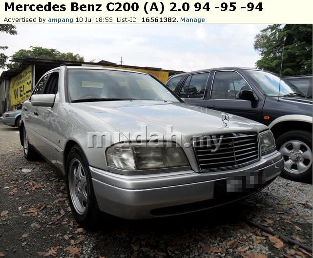 MERCEDES C200 THN 94 , RM23,800 SHJ