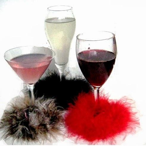 Divas drink from stemware