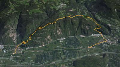 GPS Rotwand Parete Rossa Aldino Aldein