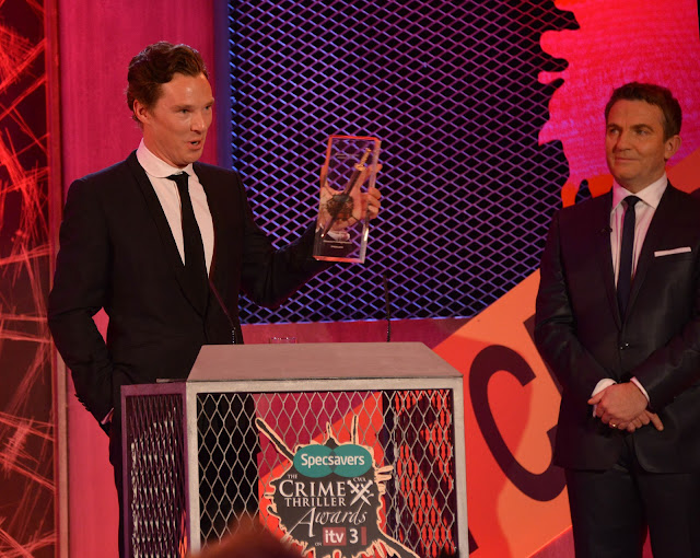 Sherlock's Benedict Cumberbatch and event host Bradley Walsh