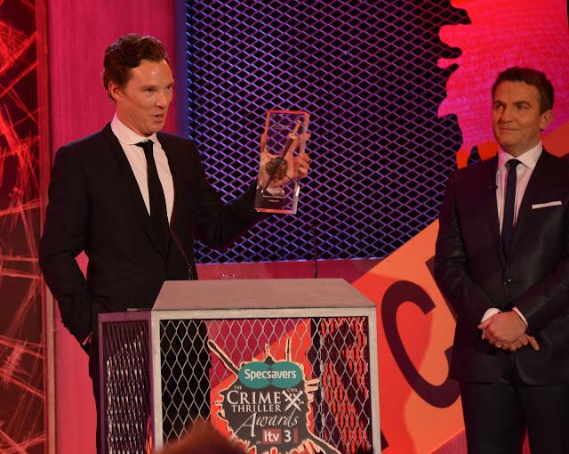 Sherlock's Benedict Cumberbatch and event host Bradley Walsh
