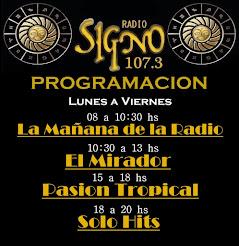 Programacion FM EL SIGNO 107.3