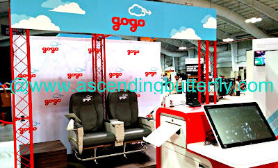 Gogo Inflight Internet Booth Engadget ExpandNY 2013 Technology Tradeshow