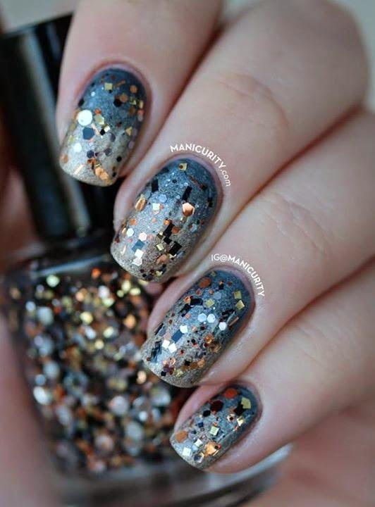 Glitter Gradient Nails Designs #2.