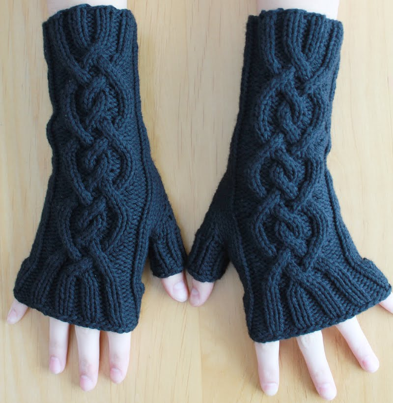Asombroso Fingerless Gloves Free Knitting Pattern Viñeta - Manta de ...