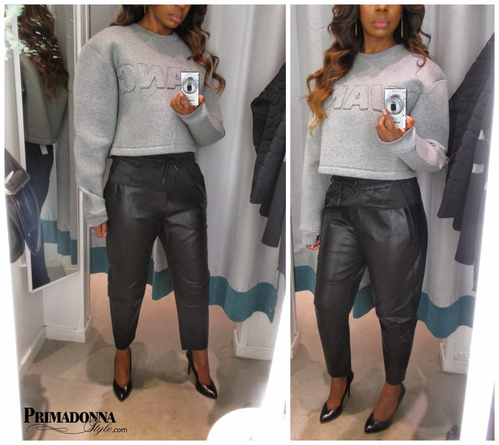 Alexander Wang for H&M Short Scuba Top  & Leather Pants