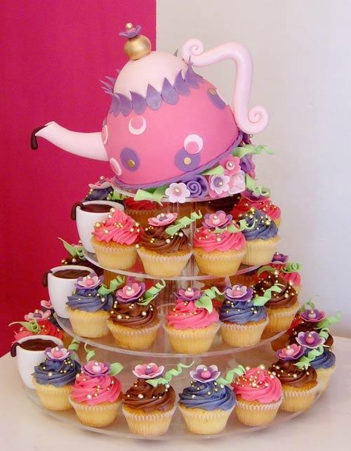 Imagenes De Tortas Con Cupcakes   Wlater Blog
